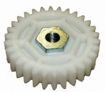 Atco, Qualcast, Suffolk Punch 14S, 17S, 20S, 35S, 43S, QX Large White Toothed Gear Cog Mower Part F016A57590, A57590